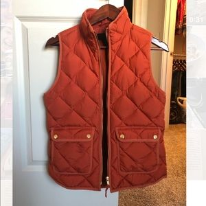 J. Crew XS Excursion Quilted Down Vest